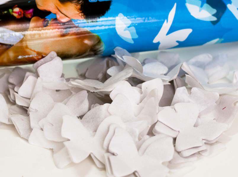 Svadba inšpirovaná krásou motýľov - konfety