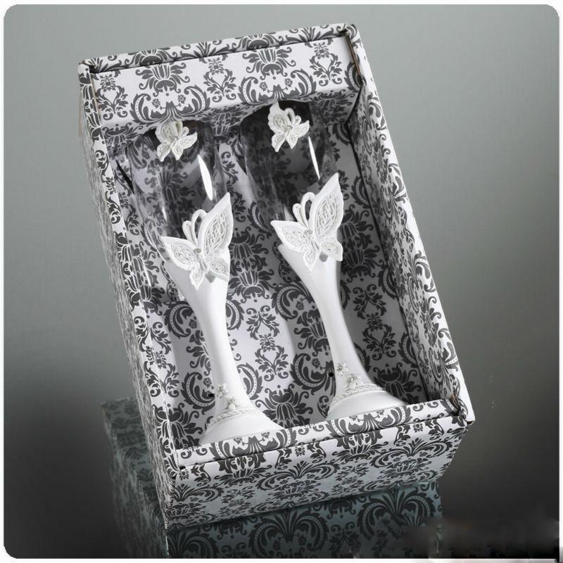 Svadba inšpirovaná krásou motýľov - poháre