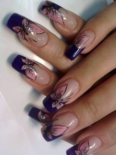 Svadba inšpirovaná krásou motýľov - nechty