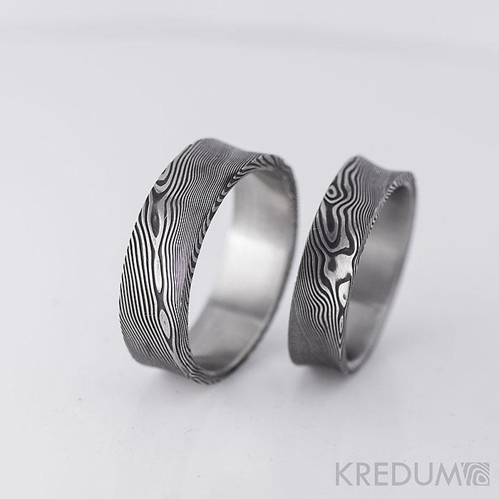 kredum - Snubní prsten kovaná nerezová ocel damasteel - Collium     www.adamvtriku.cz