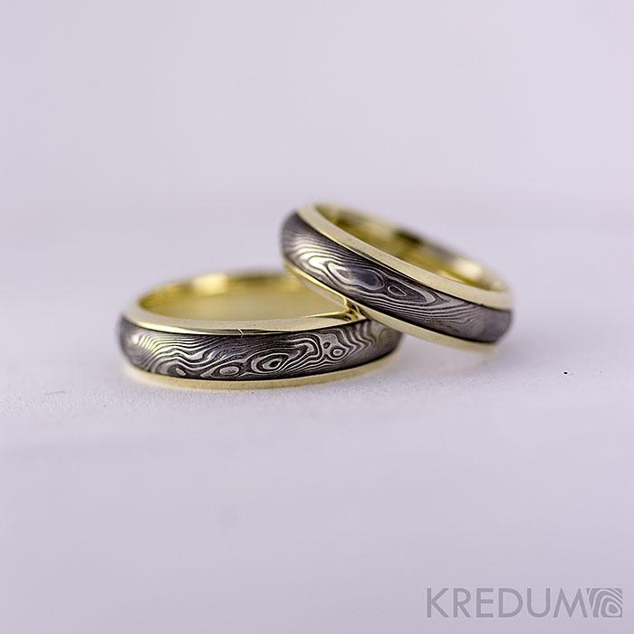 kredum - Zlaté snubní prsteny a damasteel - Kasiopea                 www.adamvtriku.cz
