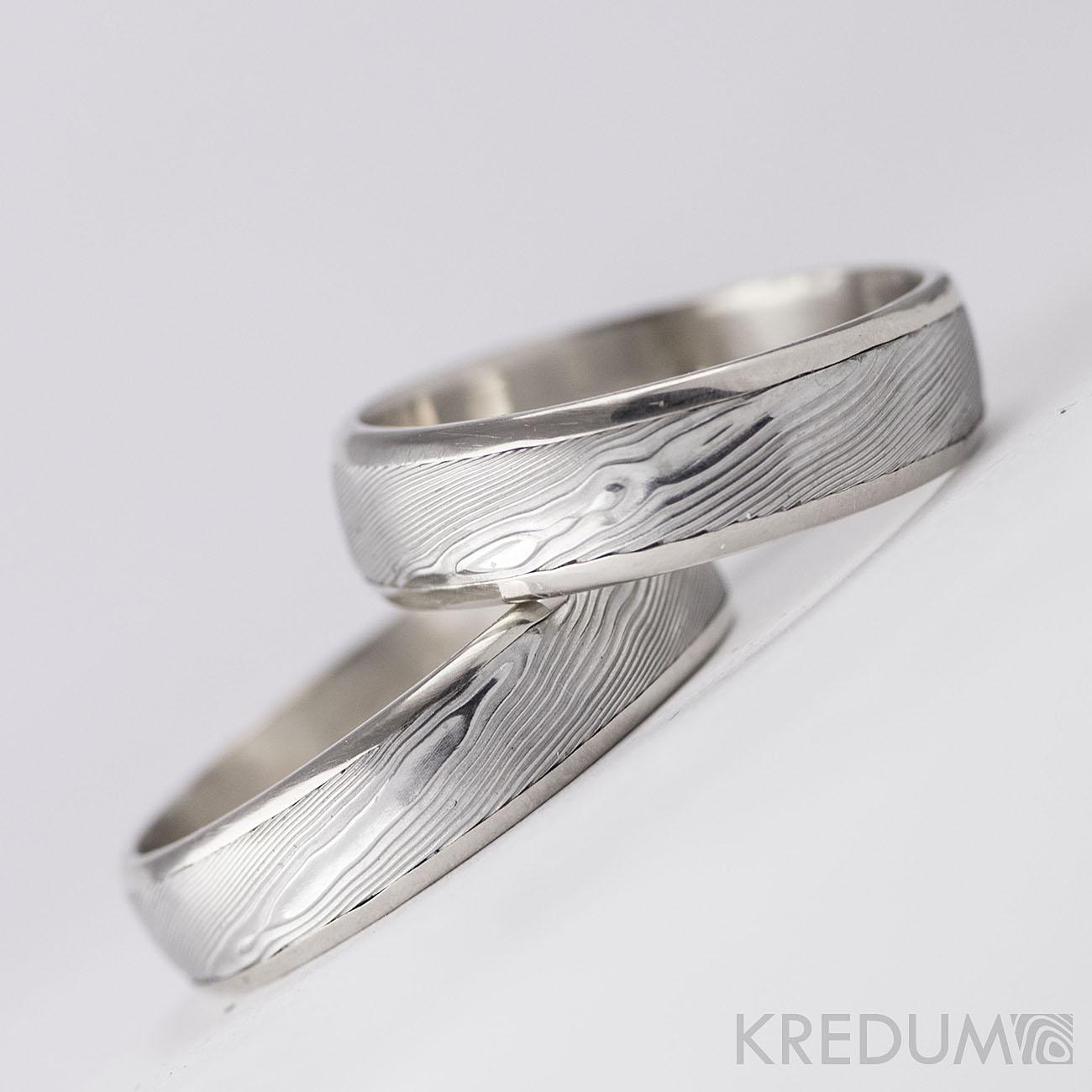 Pár nových prstenů v kombinaci damasteel a zlato, bílé zlato či stříbro - Obrázek č. 3