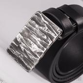 Kovaná nerez spona Mistr 3,5X + kožený pásek 3,5cm,