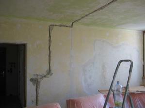 dělali jsme novou elektřinu v celém bytě