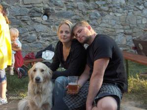 já, můj budoucí manžel a naša Barunka
