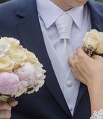Svadobná kravata+vesta na vysokú postavu, 42
