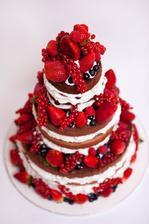 Tortu mi bude robit sestricka .Kedze budeme mat letnu svadbu dohodli sme sa na ovoci na torte miesto marcipanu(aj tak ho nemam rada) .nejako takto by to malo vyzerat presne neviem sestra chce aby som to mala ako prekvapenie ;-)