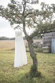 Ivory svatební korzetové šaty, 38