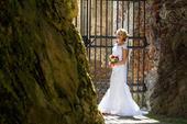 Originální svatební šaty 2v1, 36