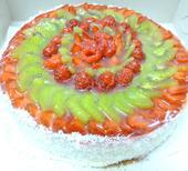 Bezlepkový ovocný dort,
