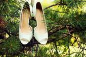 kožené svatební botičky s otevřenou špičkou, 39