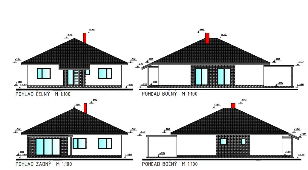 Náš domček - Pohľady domu zo strán ...