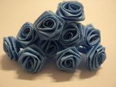 Růžičky - nebesky modrá,