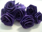 Růžičky - tmavě fialová - ručně sešívané,