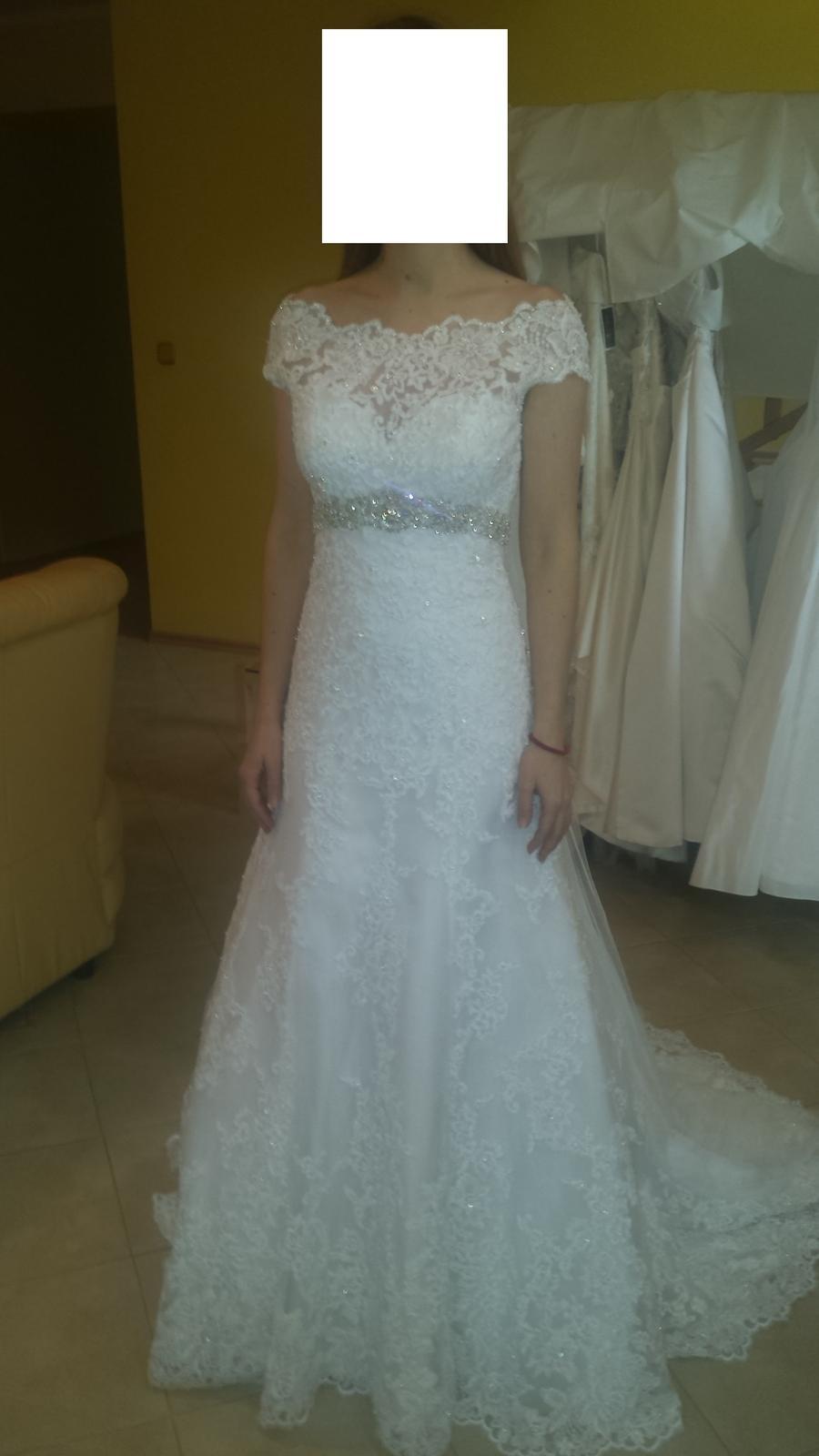 Čipkové svadobné šaty MoriLee - Obrázok č. 1