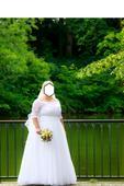 Svatební šaty se závojem vel. 50-54, 52