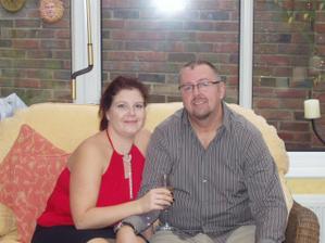 ja a Chris rok po zasnubach