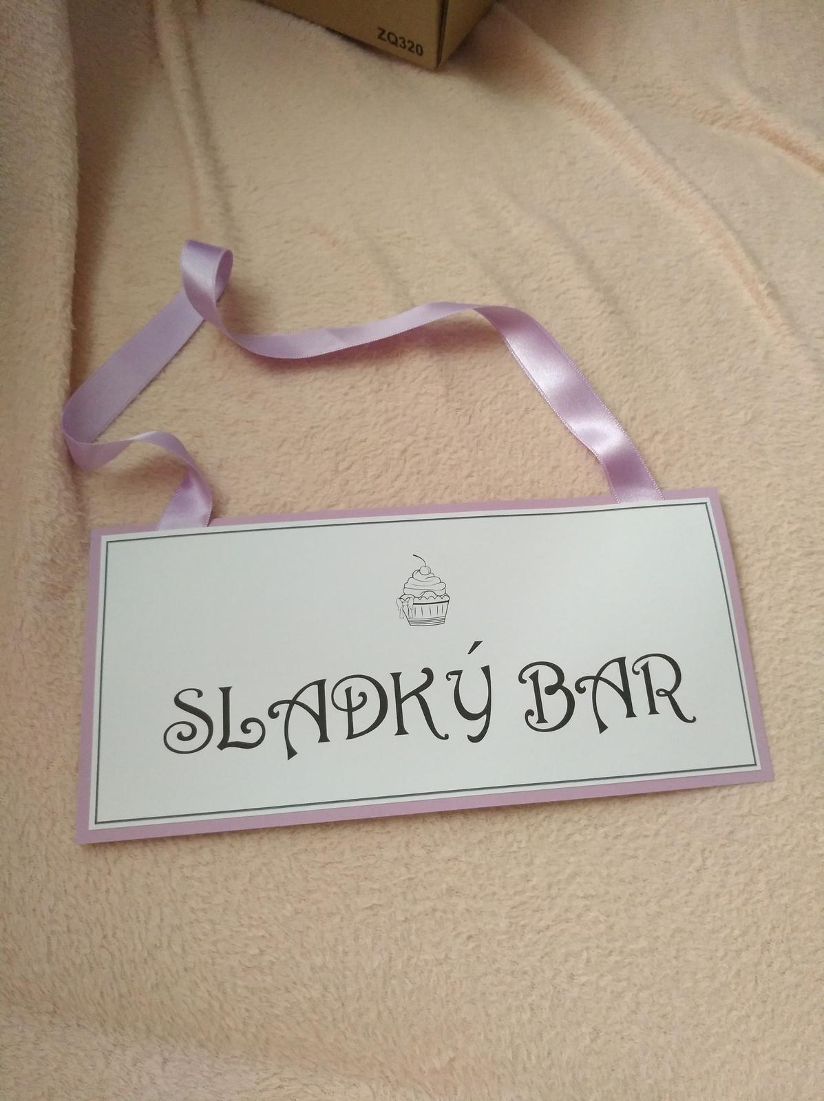 Cedule sladký bar - Obrázek č. 1
