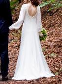 Originálne šaty, dlhý rukáv, 34