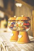 Hliněné nádoby na sladkosti,