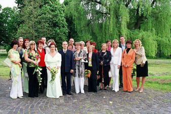 ja a svadobčania -  moji milí kolegovia