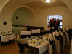 prechodná sála s časťou na švédske stoly