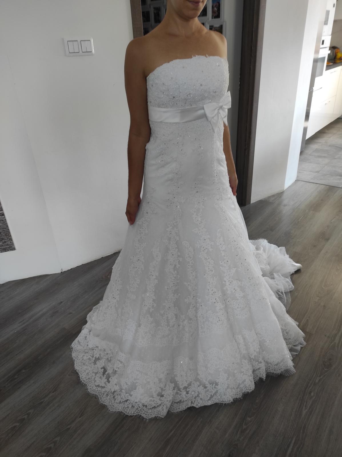 Svadobné šaty Nalon Pronovias - Obrázok č. 1