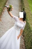 svadobné šaty značky agnes na šnurovanie, 38
