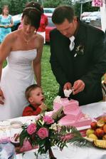 krájení dortu - byl úžasný