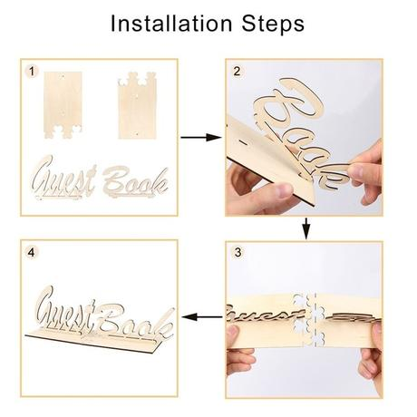 Dřevěný nápis GuestBook - Obrázek č. 2