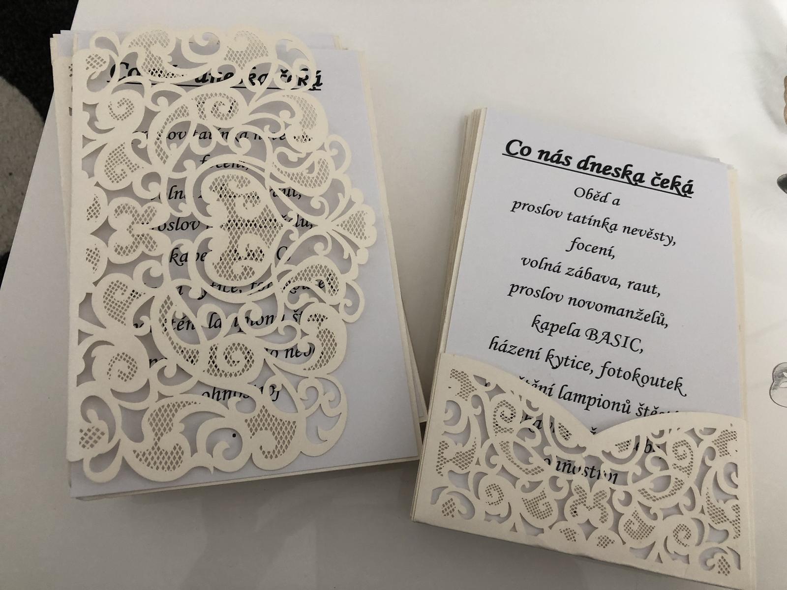obaly na kartičky na stůl nebo na pozvánky a oznámení - Obrázek č. 1