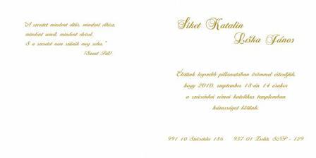 Esküvői értesítőnk... sajátkezűleg készítve az utolsó részletig.