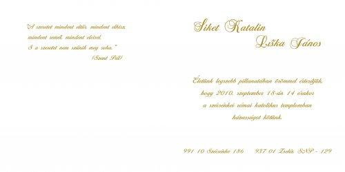 Készülünk a nagy napra... - Esküvői értesítőnk... sajátkezűleg készítve az utolsó részletig.