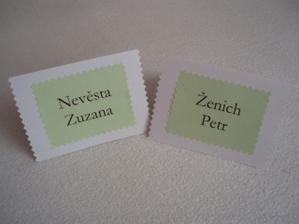 jmenovky na stůl - pro nás dva