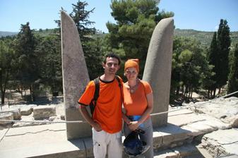 ze svatebky - palác v Knossu, Kréta