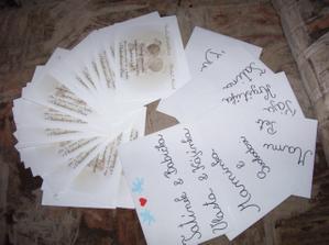 oznámení + obálky