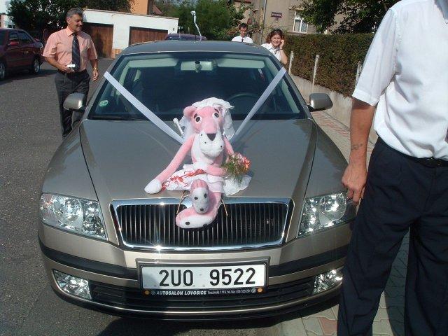 Péťa Nováková{{_AND_}}Honza Souček - auto nevěsty