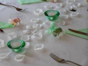 ....detail výzdoby stolu