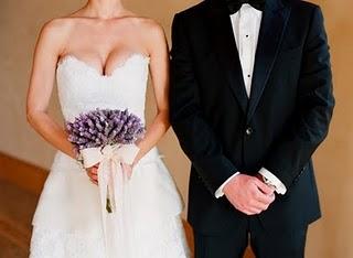 Přípravy - Levandule jako svatební kytice?