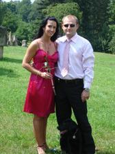 S manžílkem na svatbě mojí sestry 26.7.2008