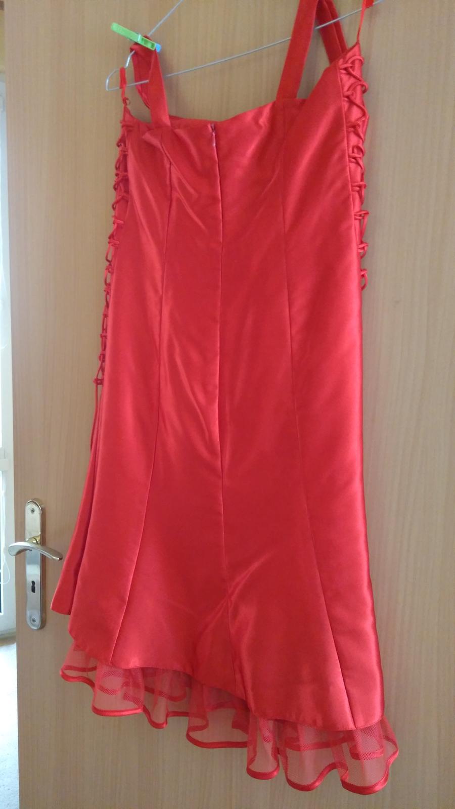 Spoločenské červené šaty veľkosť 42 - Obrázok č. 4