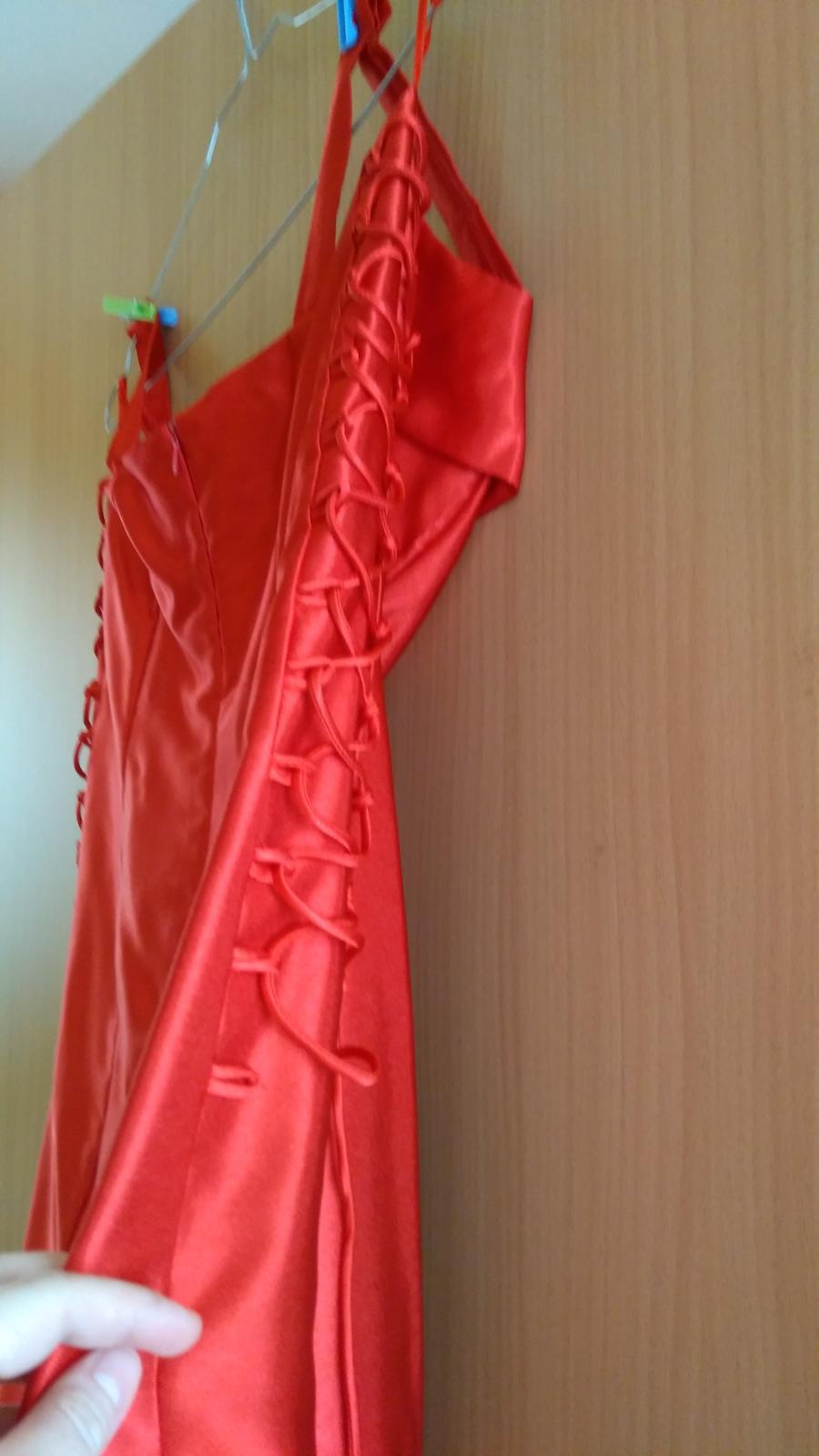 Spoločenské červené šaty veľkosť 42 - Obrázok č. 3