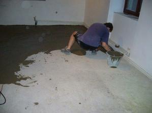 příprava na kokládku korkové podlahy