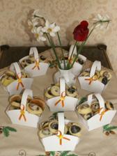 zkouška - první pečení svatební koláčky