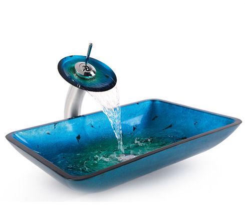 Umyvadla - Modré baterie, modré umyvadlo na desku