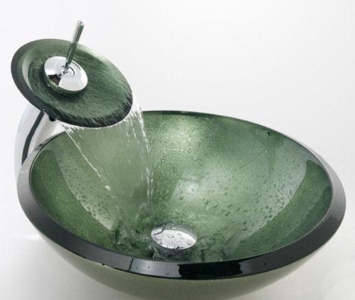 Umyvadla - Olive Green - zelená umyvadla, baterie na desku
