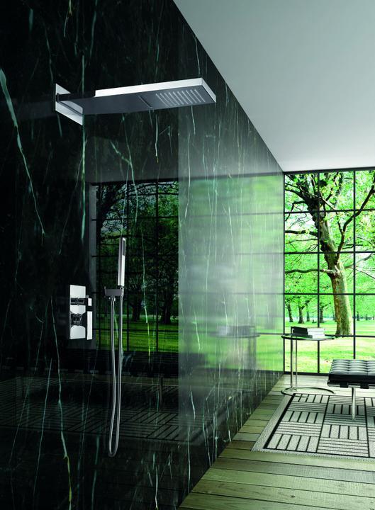 Podomítkové sprchy - Luxusní sprchový set Waterfall s vodopádem