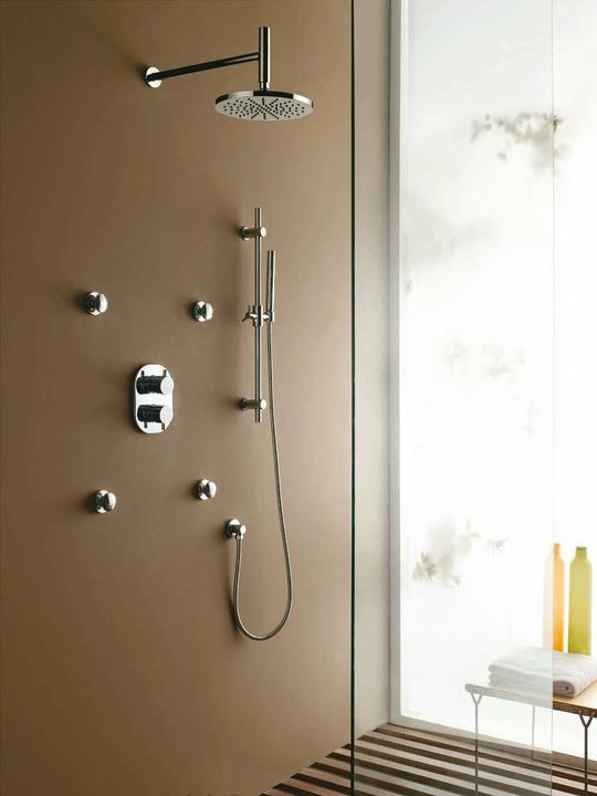 Podomítkové sprchy - podomítkové sprchy - set nikl