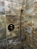 Mosazná podomítková sprcha Bamboo bronz