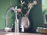 Chromová dřezová baterie s výsuvnou sprchou